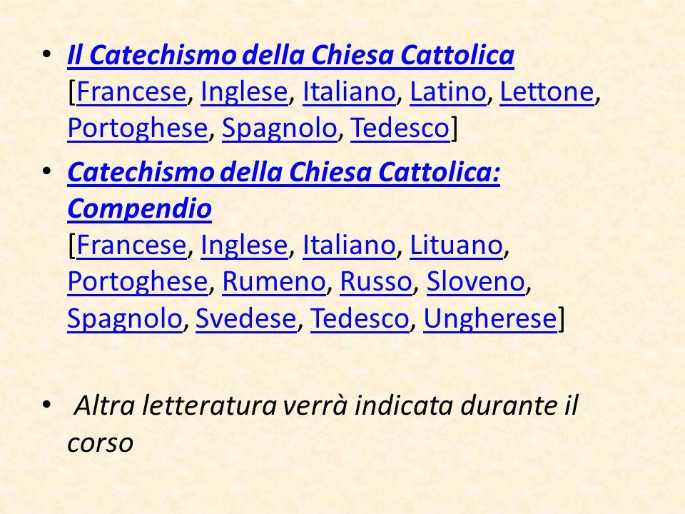 Il Catechismo della Chiesa Cattolica [Francese, Inglese, Italiano, Latino, Lettone, Portoghese, Spagnolo, Tedesco]